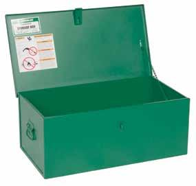 = new product = Replacement Part = Accessory B = Bare tool Welder s Boxes Protects small tools and supplies. Single lock hasp for use with padlock. Compact side handles for easy portability.