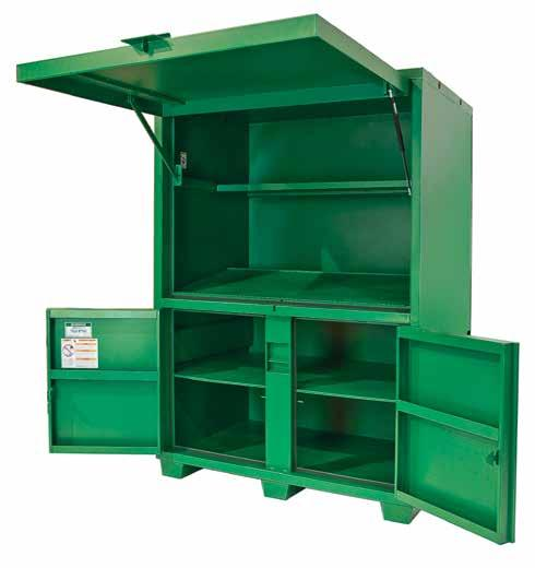 STORAGE & MATERIAL HANDLING Field Office Slanted work surface with lockable, concealed storage area.