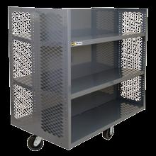 (padlock not included) TRUCKS Security, mesh stock & portable Optional shelves available as accessories Overall Dim:WxDxH (In.) Ship Wt. HTL-3048-DD-95 48 x 30 x 57 350 lbs.