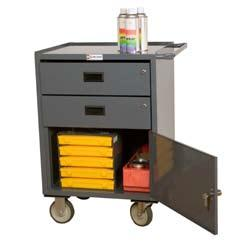 CARTS MOBILE BENCH CABINETS 23 W Mobile Bench Cabinet with 2 Drawers (1,200 lbs.
