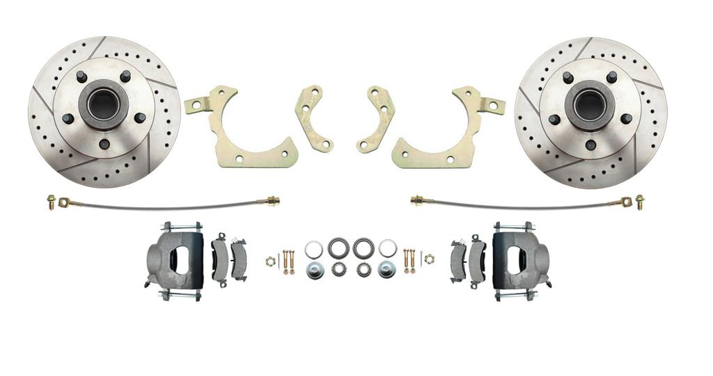 "DBK5964 1959-1964 FULL-SIZE CHEVY DISC BRAKE conversion KIT impala, bel air, biscayne Installation Instructions does not fit 14"" rims must ust 15"" or"