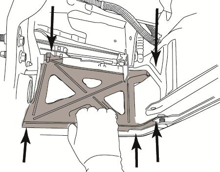 12 mm Socket (b) Pull the bumper inner cap away from the bumper and remove the two upper mounting screws holding the bracket in place (Fig. 3-2). Fig. 3-2 4.