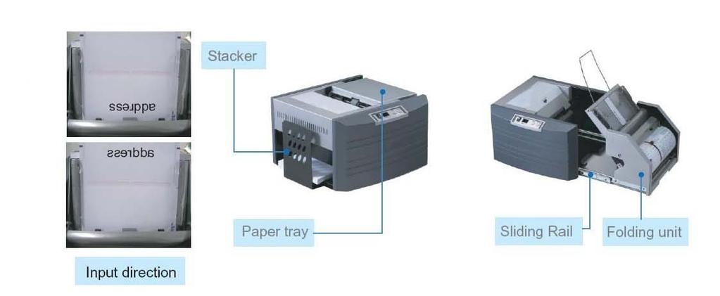 3. How to operate 1) Form preparation Forms must be fanned properly on both sides to separate and eliminate any static that may have been induced by the laser printer 2) Loading forms Place the paper