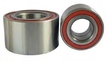Angular Contact Bearings a) Single Row Single row angular contact ball bearings are self-retaining units with solid inner and outer rings and ball and cage assemblies with polyamide, sheet metal or