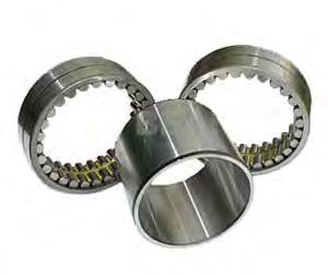 The outer rings have rigid ribs on both sides or no ribs, the inner rings have one or two rigid ribs or are designed without
