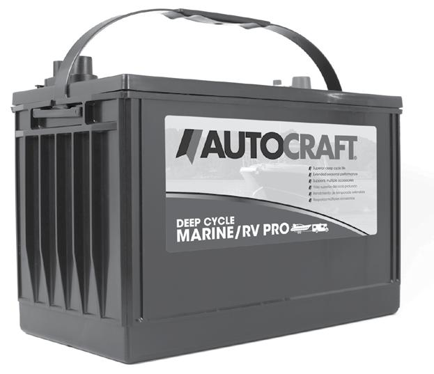 Autocraft Pro offers 30% more cycling capability, to meet or exceed your power demands, giving you peace of mind while out on the water or on the read.