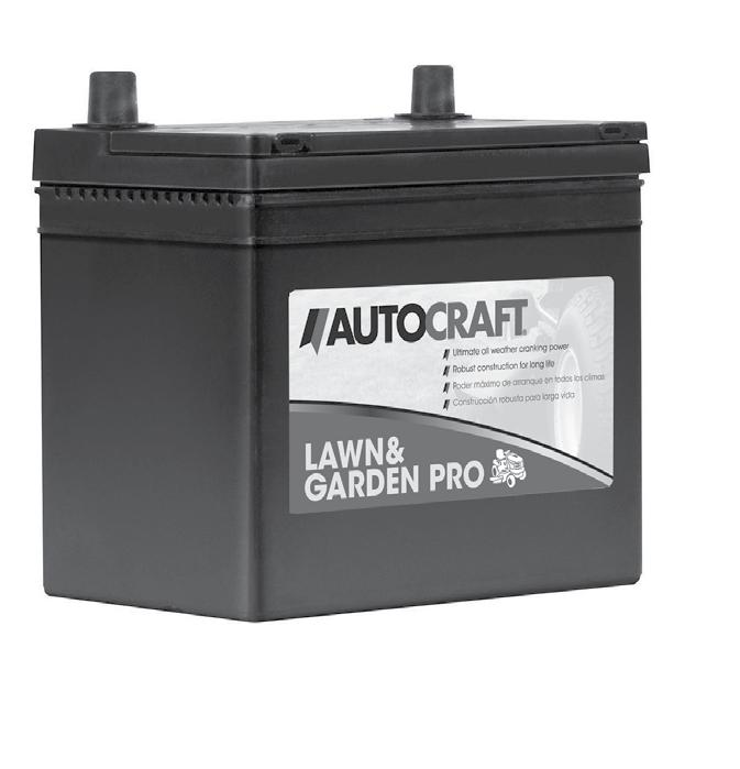 AUTOCRAFT / CARQUEST SPECIALTY BATTERY LINE AutoCraft Lawn & Garden Lawn & Garden batteries are designed to deliver the basic starting power needed for lawn tractor and utility vehicles.