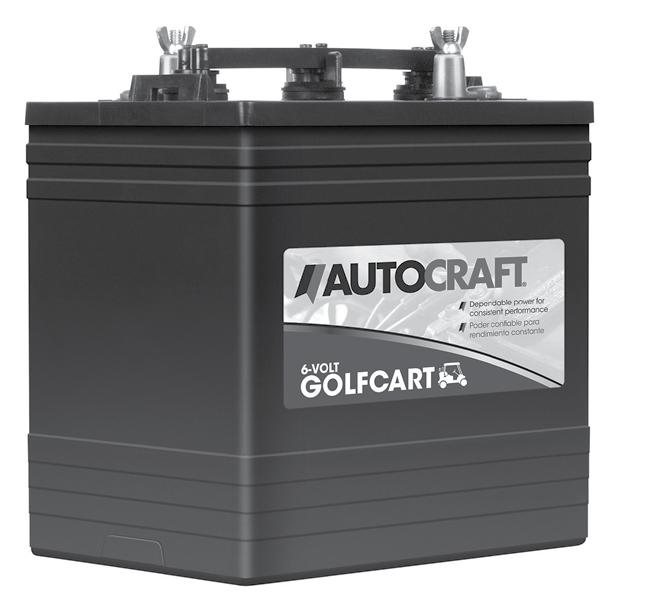 AutoCraft Golf Cart batteries are a deep cycle design with the ability to withstand cycling and recharging time and time again.