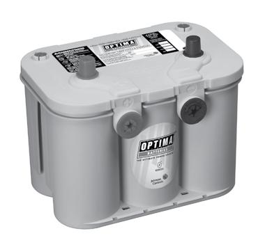 OPTIMA AUTOMOTIVE BATTERY PRODUCT LINE OPTIMA The Ultimate Power Source 3X longer life than traditional batteries in starting or deep cycle applications Spiral wound Absorbent Glass Mat technology