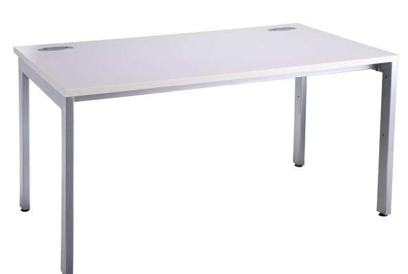 OI-T3DP White Freestanding Bench Desking OI-1680/MP OI-1480/MP