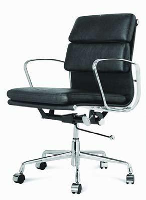 leather/ chrome base and arms Rear Seat height 350-540mm Seat depth 490mm Seat width