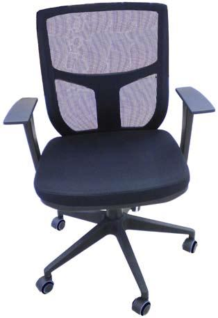 MESH OP Executive Chairs OI-2633 Leather look executive chair with gas & tilt function and stylish armrests.