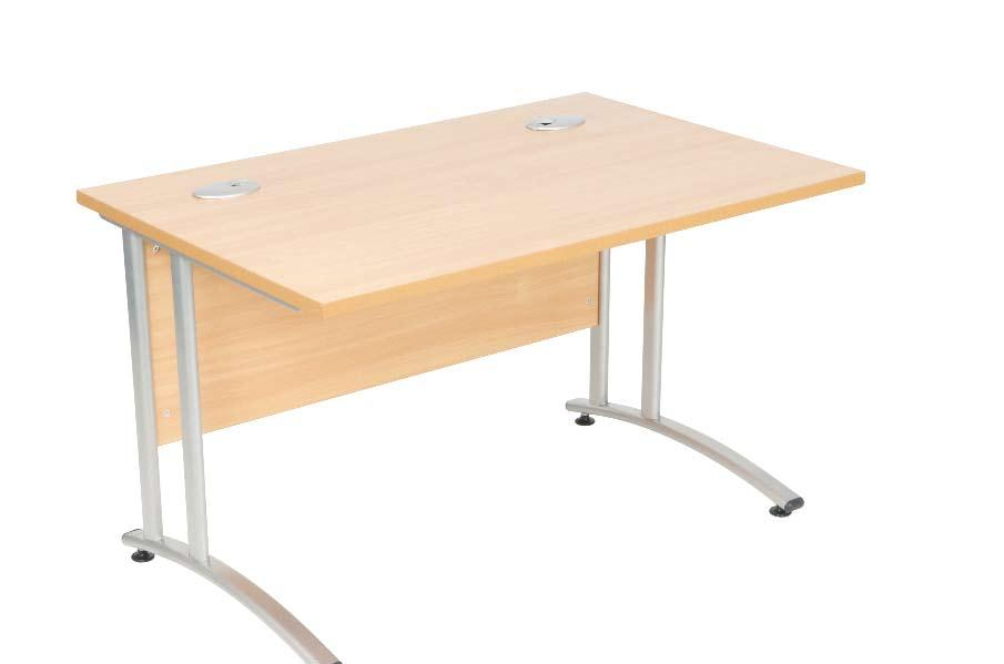 Great Quality Desking Systems Metal to Metal Fixings Height Adjustable feet Leg Wire Management