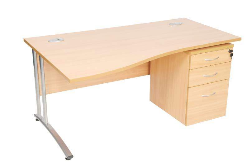 and 1 slim drawer 438W x 600D x 680H WAM140L 1400mm Wave Desk (Left hand) 1400 x 1000/800D UDM/PT Pencil Tray WAM140R
