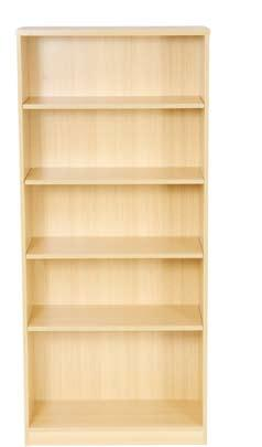 shelves Bookcase with 4 shelves Desk high open fronted quadrant