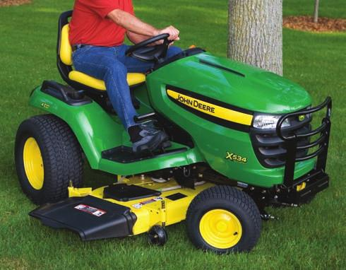 Seat safety switch stops the mower blades if you