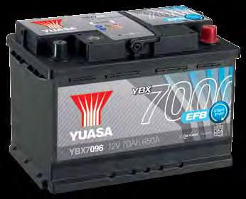Specifications & X-Refs Next Generation Automotive Battery Range - Micro Hybrid, Hybrid & Electric Vehicles Explained AGM START STOP PLUS Features Approximately 360,000 starts For high specification