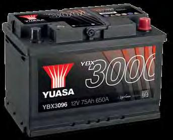 Conventional Car & LCV Battery Range Explained Features Approximately 50,000 starts Sealed tip/tilt double lid - Reduces water loss by up to 30% - VDA roll over test compliant*