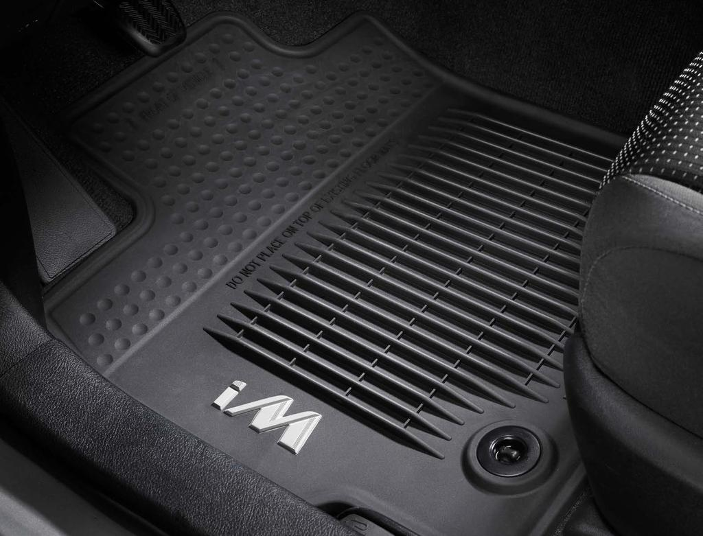 All-Weather Floor Mats Count on these rugged all-weather floor mats 2 to help protect the Corolla im s original carpet.