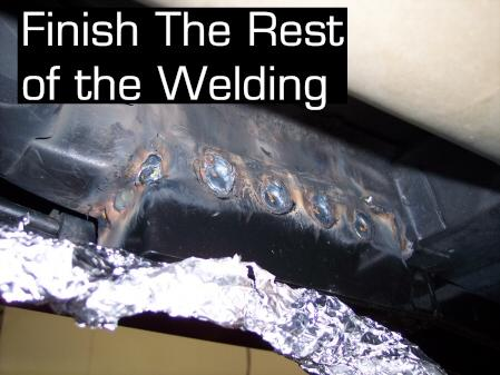 7. Optional Metal Finishing Depending on how pretty your welds turn out, you might want to grind down any high welds or