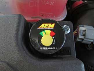 ab. Make sure the AEM filter minder gauge needle is pointing to the green sector.