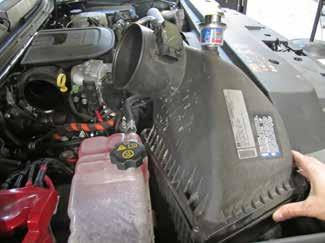 Remove the air box assembly fr