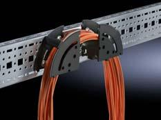 The elements may optionally be used individually or in combination for cable routing.