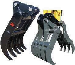 Widths and Openings Available Excavators 4,000 lbs.