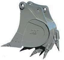 Duck-Bill Teeth Buckets Additional Duck-Bill / Flared Teeth for Straight Edge Digging Applications