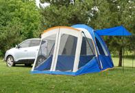 This tent is able to wrap around the cargo area of your SUV allowing total access to your vehicle.