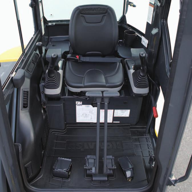 Fully Adjustable Suspension Seat The spacious
