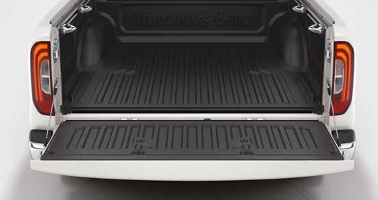 Cargo & Care 01 Load bed liner. Kit, black, plastic. The weather-resistant under rail bed liner provides protection for the bed from damage to the paintwork.