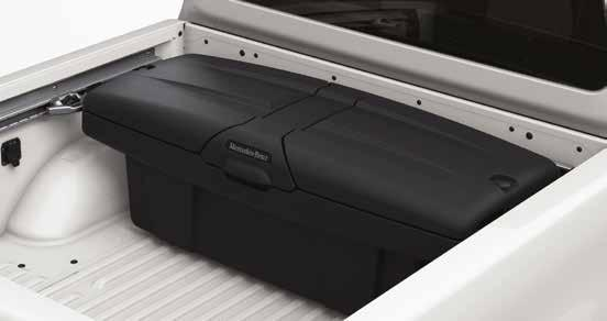 Compatible with the bed covers, the lashing rails and the load anchoring rail system at the side walls. Fitment of the load bed liner does not allow a pallet to fit between the wheel arches.