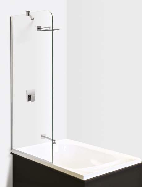 BATH SCREENS DOMAINE 1 2 DOMAINE BATH SCREENS Height: 1500mm 8mm toughened glass Mould and UV