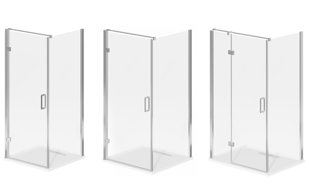 SHOWER SYSTEMS + BASES DOMAINE 1 1 POSH DOMAINE MKII SHOWER SCREEN & BASE Available in x mm,