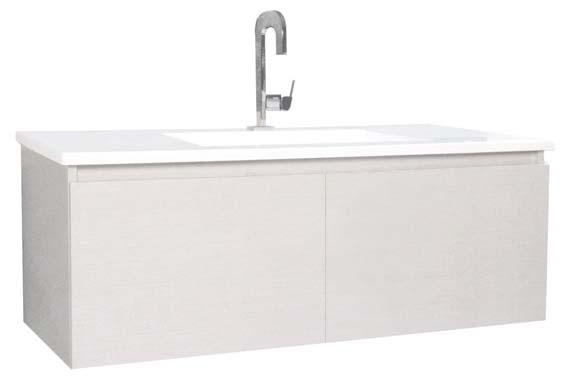 centre, centre bowl or 1200mm Width: 435mm 7 SOLUS ALL-DRAWER VANITY UNIT Wall hung only Acrylic top Centre bowl only Flexidinger kit included Available in 600, 750,, 1200mm Depth: 460mm 8 SOLUS