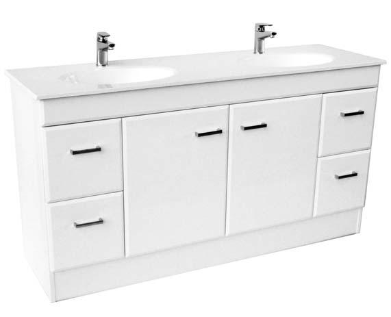 BRISTOL 1 2 BRISTOL VANITY UNIT Available with 1 or 3 tapholes Cultured Marble Ocean Top 96mm