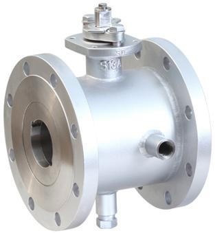 KTM jacketed ball valve, designed with full flange to flange welded jacket, to effectively maintain the temperature of the media Features General applications Temperature-dependent viscosity fluid: