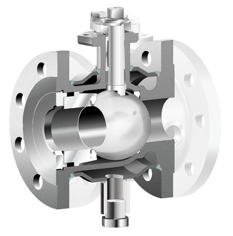 Open-close position Open or closed position of the valve is shown by the lever position and shaft top.