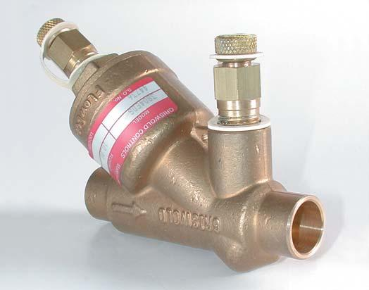 "Desired GPM must be specified when ordering. 1/2"" size shown. Nominal Size: 1/2"", 3/4"", and 1"" Body Material: Copper Connection: Sweat Pressure Rating (psig): 500 Temp."