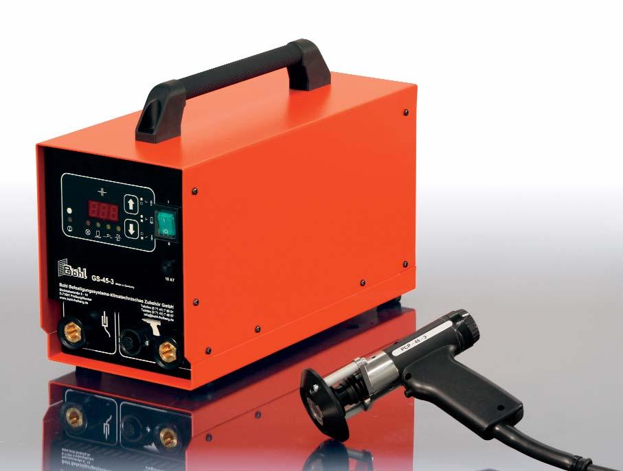 Stud welders BOHL GS 35 The easy-to-use entry model is designed exclusively for the fixing of insulation welding pins.