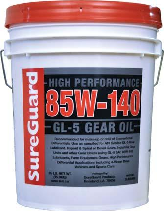 GL-5 GEAR OIL Heavy Duty, Extreme Pressure, Multipurpose, All Season Lubrication SureGuard GL-5 Gear Oils are multipurpose, high performance,
