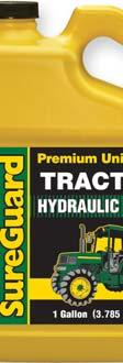 SureGuard 303 Tractor Hydraulic Fluid is suitable as a replacement fluid for the hydraulic, wet brake and transmission requirements of equipment manufacturers including: