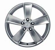 "2WF40AC170 (TPMS not recommended) (MY12, MY15) Alloy wheel 17"" Jeju. Five-spoke alloy wheel, silver, 7.0Jx17, suitable for 235/65 R17 tyres."