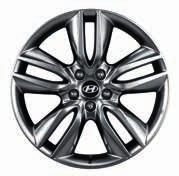 "2WF40AC390 (TPMS not recommended) (MY12, MY15) Alloy wheels kit 19"" Design B. Five-double-spoke alloy wheel, dark silver, 7.5Jx19, suitable for 235/55 R19 tyres."
