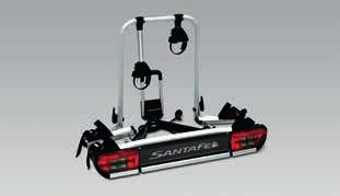 Capable of carrying 2 bikes and also suitable for e-bikes with a maximum combined weight up to 60 kg.