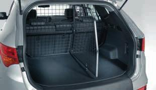 Its shape follows the interior contours of the Santa Fe, and the grid bars are arranged to provide optimal rear vision.