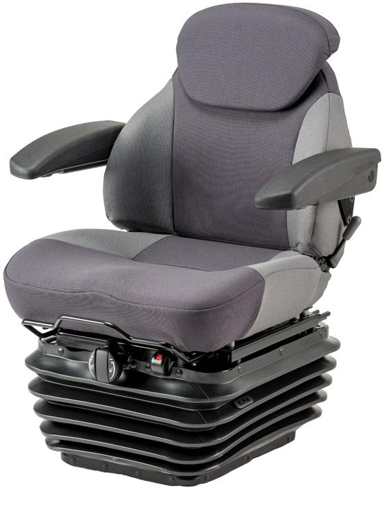 Mechanical 111 - Mechanical 11 suspension - Height - Variable upstop - Back - Armrests - Sliderails - Suspension Cover - Optional