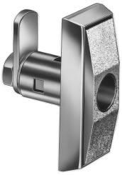 Locking cams can be manufactured per customer requirement. Available 90 0 or 180 0 rotation. Textured finish for scratch resistance. Standard finish Chrome. Black finish available.