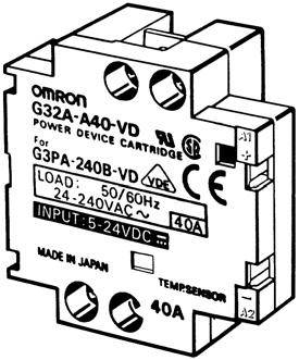 The G32A-A Power Device Cartridge can withstand an excessive current for a short period of time, such as may be caused accidentally by the short circuitry